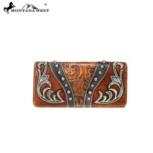 Montana West Tooled Collection Wallet/Wristlet